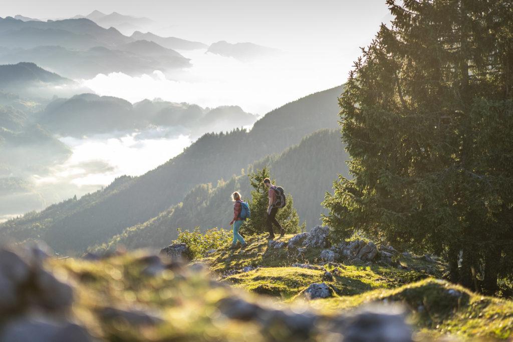 Morgens am Sudelfeldkopf, Blick Richtung Osten